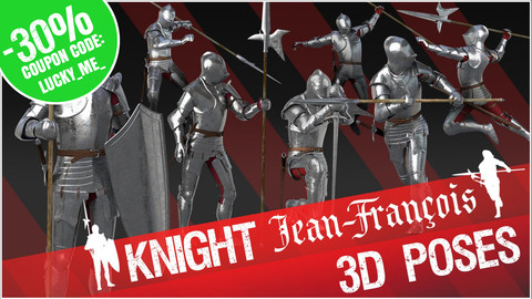 "3D Poses - Knight ""Jean-François"""