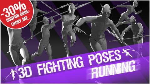 "3D Poses ""Running"""