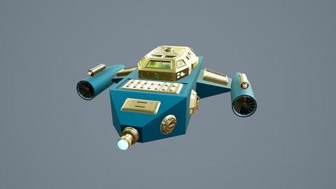 Spaceship Sci-Fi Dropship 3D model 3D model