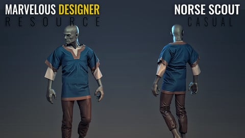Norse Scout - Male - Marvelous Designer Resource