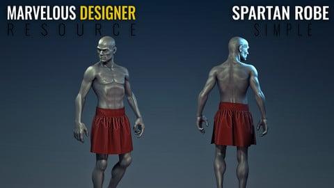 Spartan Robe - Simple - Marvelous Designer Resource