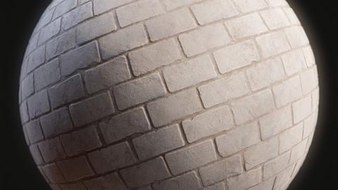 Brick Wall Painted Material
