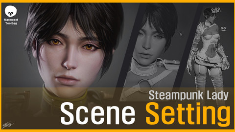 Steampunk Lady_Scene Setting
