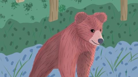 Bear Cub Digital Illustration