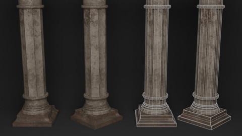 Column (Low-poly, PBR, Game-ready)