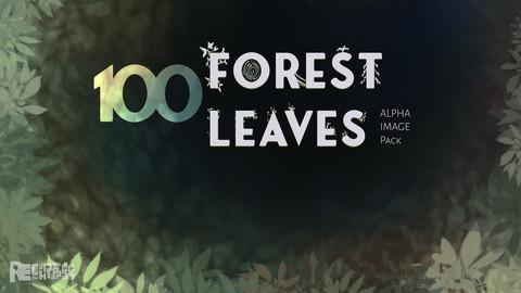 100 Forest Leaves - Alpha Image Pack