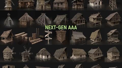 NEXT GEN AAA GIGAPACK MEDIEVAL VILLAGE CITY BUILDER PACK