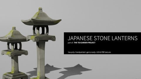 Japanese Stone Lantern - LowPoly, Handpainted, UE4 Ready