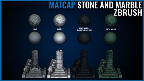Stone and Marble Matcap Pack - Zbrush Matcaps 1