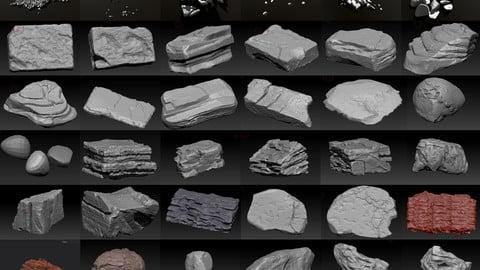Rocks for render ( 30 models bundle and a little bit more (8K maps))