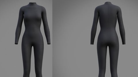 Female full bodysuit 3d model