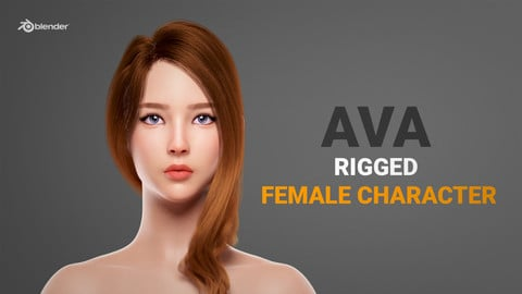 Ava - Rigged Female Character