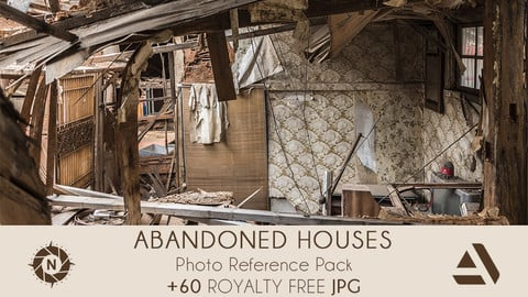 Photo Reference Pack: Abandoned Houses