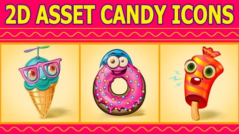 2D Asset Candy Icons