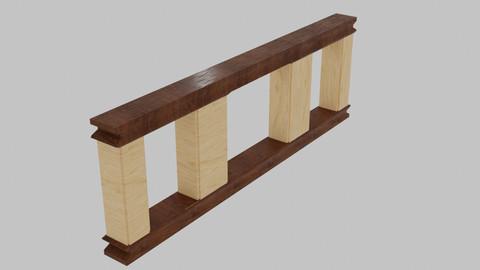 Simple wooden handrail