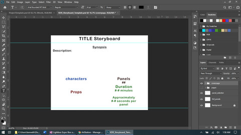 Photoshop Storyboard Template