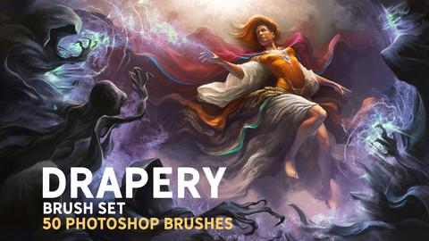 Drapery brush set
