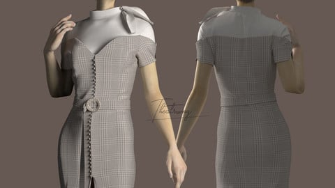 Marvelous Designer,Clo3d project |Shirt dress