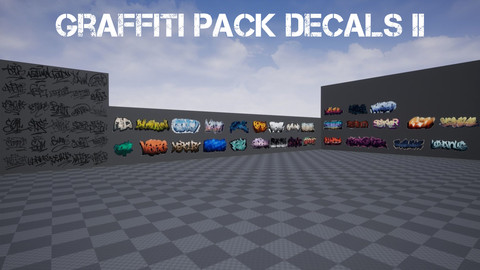 Graffiti Pack Decals II for UE4 & Unity