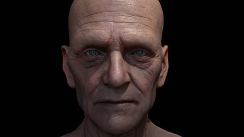 High Detailed MaleFace for Game