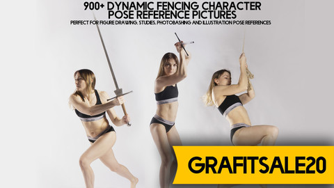 20% OFF - GRAFITSALE20 - 900+ Dynamic Fencing Character Pose Reference pictures