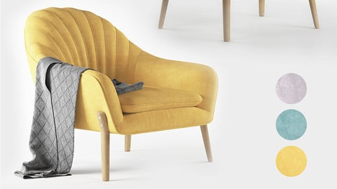 Hare Armchair (MAX 2014+ VRAY)
