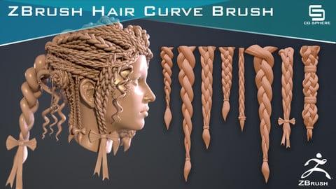 ZBrush Hair Curve Brush