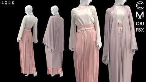 Women's Pink Hanfu_2 version