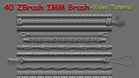 40 IMM Brush + Video Tutorial Vol01
