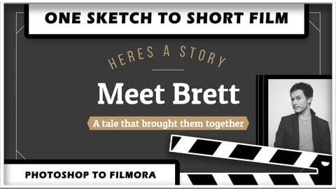 One Sketch To Short Film | Photoshop To Filmora