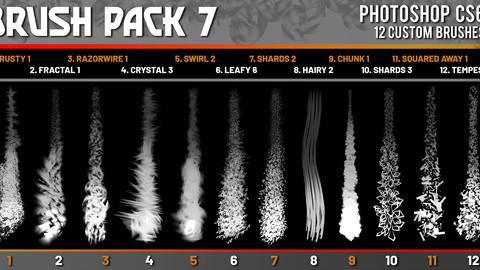 SHIDOOK BRUSH PACK 7 (Photoshop CS6+)