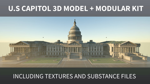 US Capitol 3D model + Modular kit