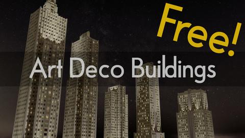 Art Deco 3D Buildings