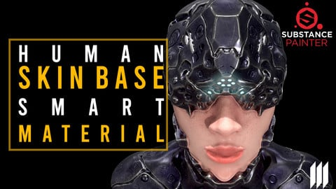 Human Skin Base Smart Material For Substance Painter