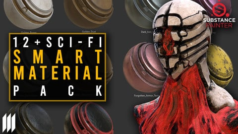 12 Creatures/Sci-fi Smart Materials Pack For Substance Painter