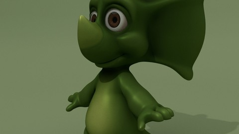 Cartoon Triceratops Kid