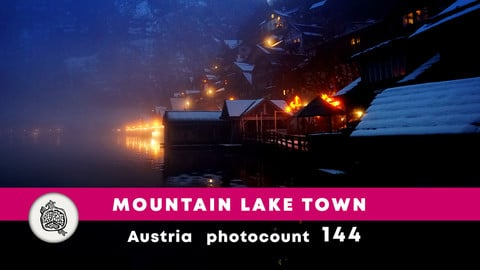 Mountain lake town Photopack