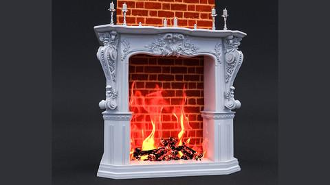 Classic Fireplace 3D Model