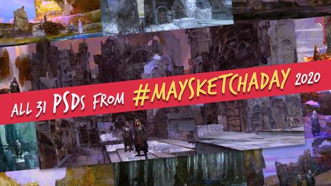 All 31 PSDs from #MaySketchADay 2020