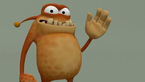 Animated Cartoon Monster Spotty