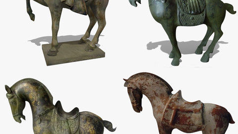 Horse Statuettes Pack 04