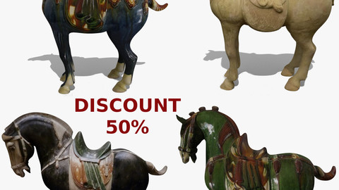 Horse Statuettes Pack 07