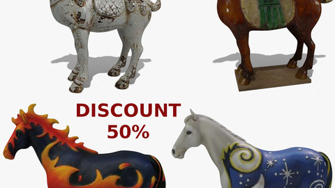 Horse Statuettes Pack 08