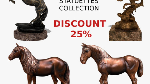 Horse Statuettes Pack 03