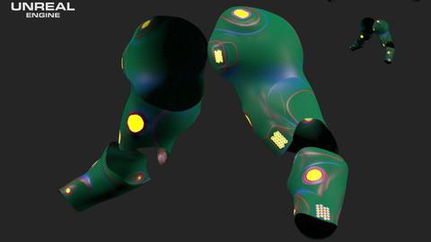 Scifi Arm Number05 - 3D Asset Game Model PBR - 3D model