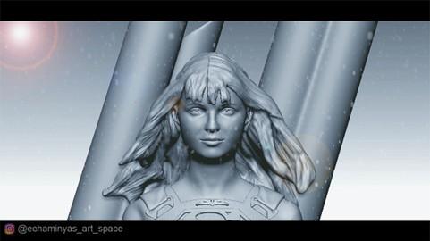 Melissa Benoist Supergirl (3D - print ready)