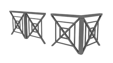 3D black Railing Modular