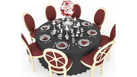 Black Wedding Table