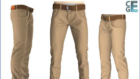 Marvelous Designer Men's Pants Garment File + Presets (5 Pocket Pants - Jeans, Trousers etc.)