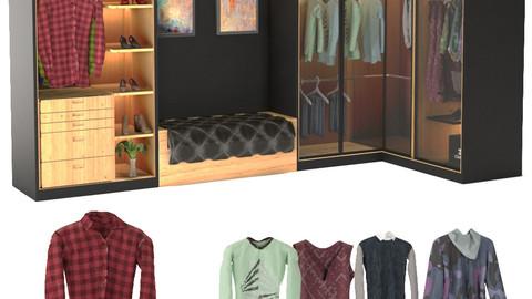 Clothing Pack + Wardrobe +Furniture
